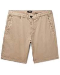 Theory Natural Zaine Garment-washed Cotton-blend Twill Shorts for men