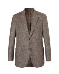 Richard James - Brown Slim-fit Slub Silk, Wool And Cashmere-blend Blazer for Men - Lyst