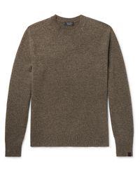 Rag & Bone Green Haldon Slim-fit Mélange Cashmere Sweater for men