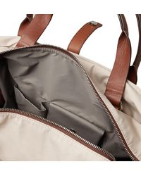 Brunello Cucinelli Pink Leather-trimmed Nylon Holdall With Detachable Garment Bag for men