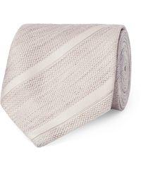 Tom Ford Natural 8cm Striped Linen And Silk-blend Jacquard Tie for men