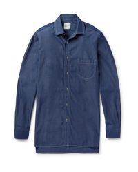 Paul Smith Blue Oversized Triple-stitched Denim Shirt for men