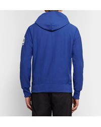 Todd Snyder Blue Printed Loopback Cotton-jersey Hoodie for men