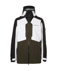 Peak Performance White Granite Gore-tex Recco® Hooded Ski Jacket for men