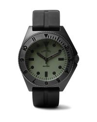 Bamford Watch Department Green Mayfair Stainless Steel And Rubber Watch for men