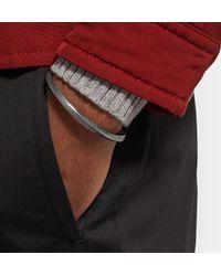 Bottega Veneta - Metallic Intrecciato Oxidised Sterling Silver Cuff for Men - Lyst