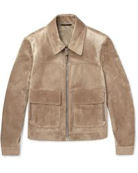 Tom Ford Brown Suede Blouson Jacket for men