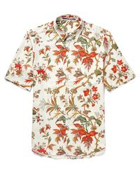 McQ Alexander McQueen Multicolor Printed Cotton-blend Twill Shirt for men