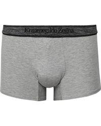 Ermenegildo Zegna Gray Stretch-modal Boxer Briefs for men