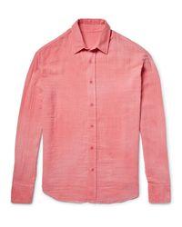 The Elder Statesman Pink Cotton-gauze Shirt for men