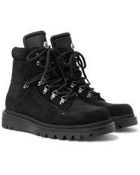 Moncler Black Egide Suede And Nylon Boots for men