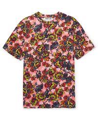 McQ Alexander McQueen Pink Floral-print Cotton-jersey T-shirt for men
