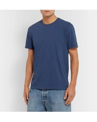 James Perse Blue Combed Cotton-jersey T-shirt for men