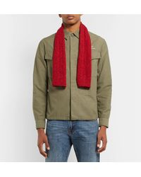 Inis Meáin - Red Donegal Merino Wool And Cashmere-blend Scarf for Men - Lyst