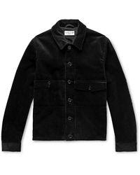 YMC Black Pinkley Cotton-corduroy Shirt Jacket for men