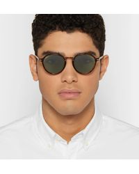 Persol - Brown Round-frame Tortoiseshell Acetate And Gold-tone Sunglasses for Men - Lyst