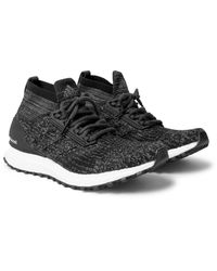 Adidas Originals Black Ultra Boost All Terrain Primeknit Sneakers for men