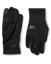 Arc'teryx Black Rivet Touchscreen Polartec Power Stretch Fleece Gloves for men