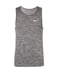 Nike Black Space-dyed Dri-fit Tank Top for men