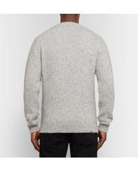 SALLE PRIVÉE Gray Jakob Slim-fit Mélange Alpaca-blend Sweater for men