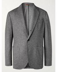 Brunello Cucinelli Gray Cashmere-jersey Blazer for men