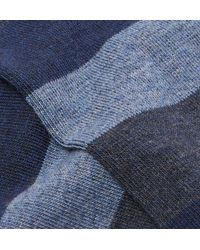 Oliver Spencer Blue Miller Striped Stretch Cotton-blend Socks for men