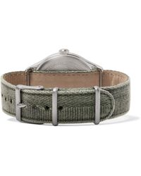 Timex - Green Waterbury United Stainless Steel And Stonewashed-canvas Watch for Men - Lyst
