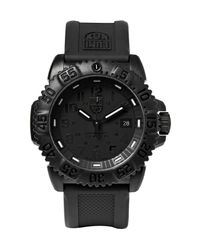 Luminox | Black Colourmark 3051 Carbon-reinforced Stainless Steel And Rubber Watch for Men | Lyst