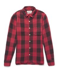 Remi Relief Red Checked Flannel Shirt for men