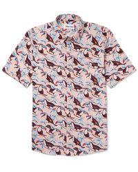 Thorsun Pink Printed Cotton-poplin Shirt for men