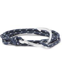Miansai - Blue Hook Cord Silver-plated Wrap Bracelet for Men - Lyst