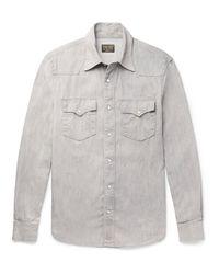 Kingsman Gray + Jean Shop Statesman Selvedge Denim Shirt for men