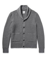 Rag & Bone Gray Avery Shawl-collar Textured-knit Cotton Cardigan for men