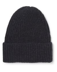The Workers Club - - Ribbed Mélange Merino Wool Beanie - Midnight Blue for Men - Lyst