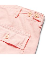 Orslow Pink Cotton Shorts for men