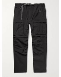 Nike Black Acg Smith Summit Belted Nylon-blend Cargo Trousers for men