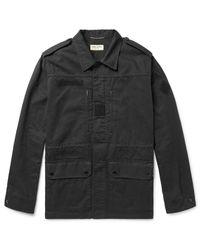 Saint Laurent Black Cotton And Ramie-blend Twill Parka for men