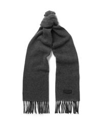Paul Smith   Gray Cashmere Scarf for Men   Lyst