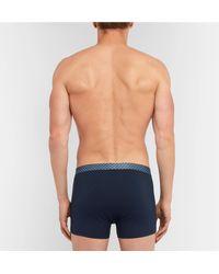 Derek Rose - Blue Stretch-pima Cotton Boxer Briefs for Men - Lyst