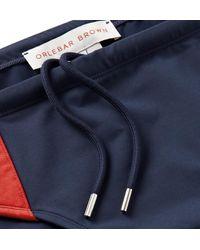 Orlebar Brown Blue Dachshund Striped Swim Briefs for men