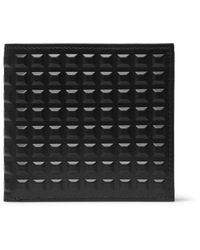 Balenciaga Black Studded Leather Billfold Wallet for men