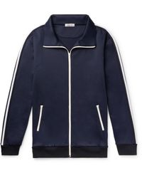 Valentino Blue Oversized Striped Tech-jersey Track Jacket for men