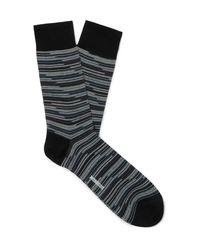 Missoni Black Striped Cotton-blend Jacquard Socks for men