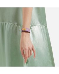 Mulberry - Purple Bayswater Leather Bracelet - Lyst