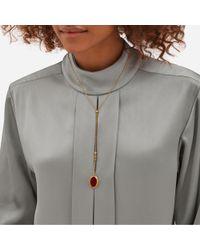 Mulberry - Metallic Locket Necklace - Lyst