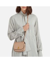 Mulberry Multicolor Mini Amberley Satchel In Rosewater Small Classic Grain