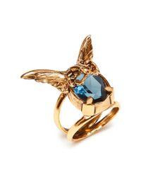 Mulberry - Blue Bat Ring - Lyst