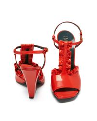 Mulberry Red T-bar Sandal