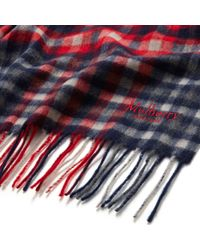 Mulberry - Red Large Check Lambswool Scarf - Lyst