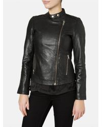 Muubaa Delaney Black Biker Jacket